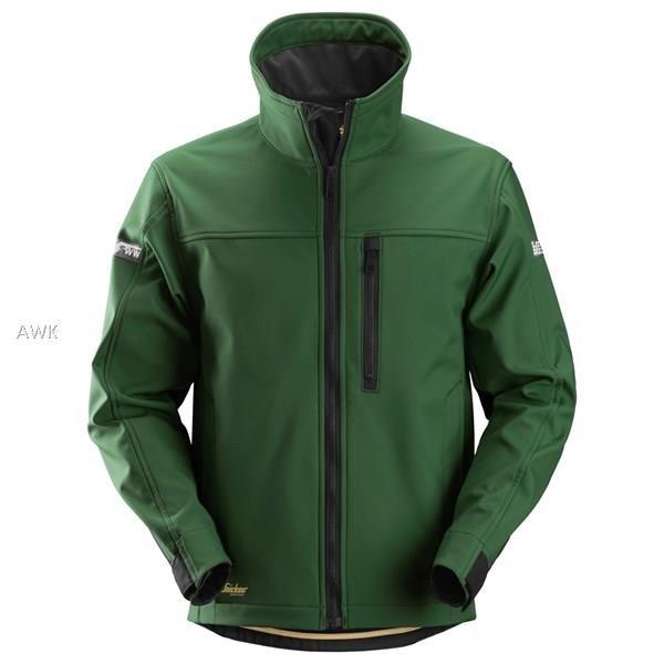AllroundWork Softshell Jacke, forestgreen/black