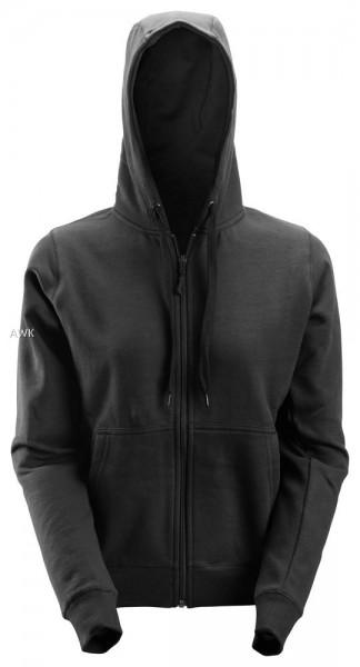 Damen Reißverschluss Sweatshirt, Black