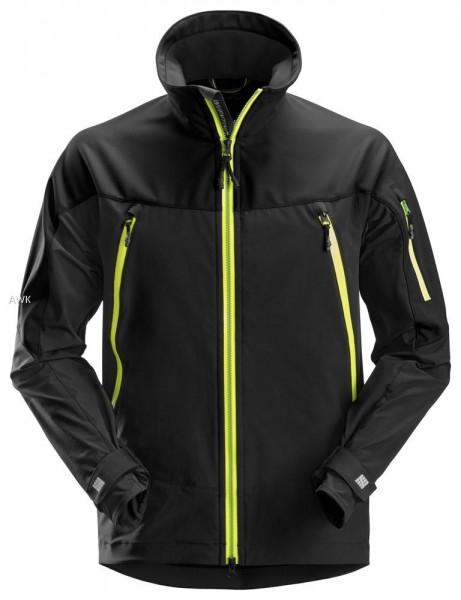 FlexiWork Stretch Arbeitsjacke, Black/Neon Yellow