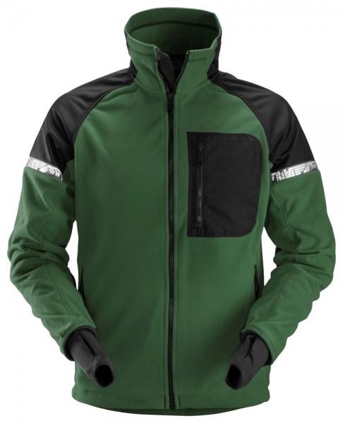 AllroundWork Fleece Arbeitsjacke, grün/schwarz