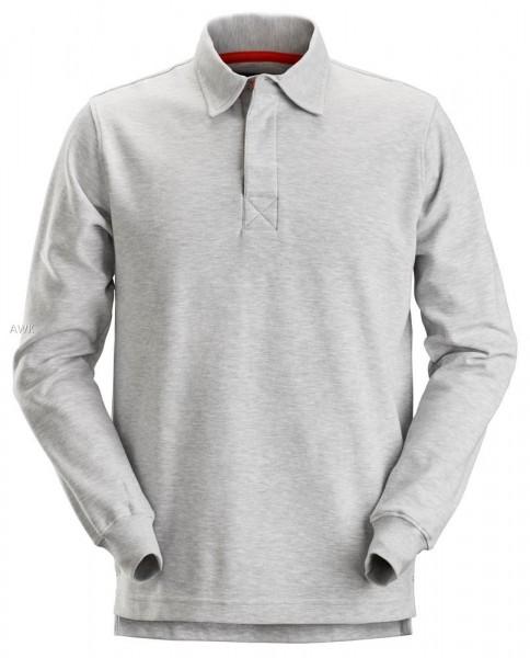 """Rugby Shirt """"AllroundWork"""" grey melange, MG280"""