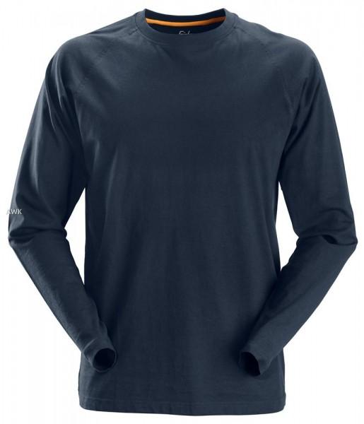 AllroundWork, langarm T-Shirt, Navy