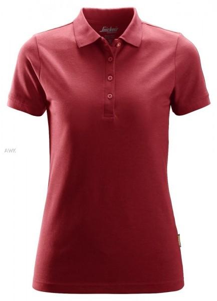 Damen Polo Shirt, Chili red