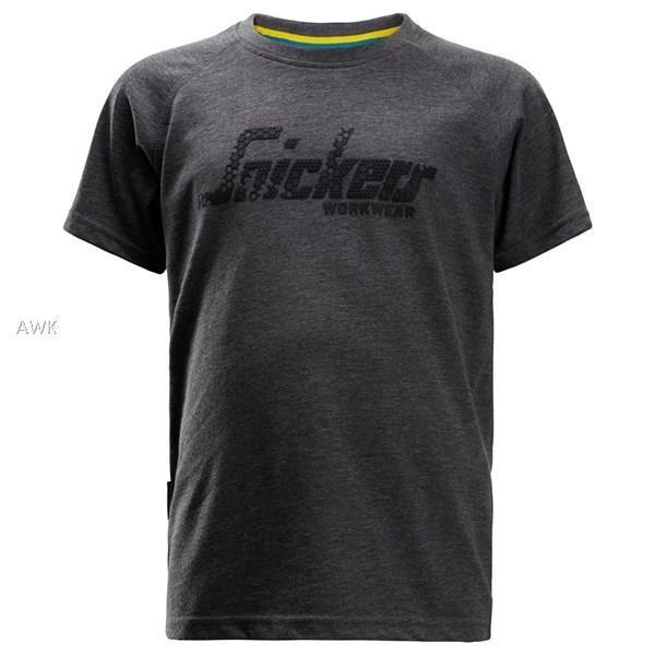 Junior Logo T-Shirt, dark blue melange