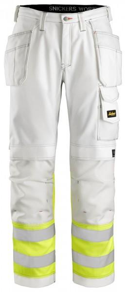High Vis Malerhose, Klasse 1, White\High Vis Yello