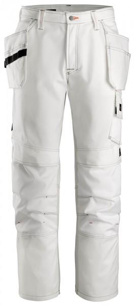 Malerhose mit Holstertaschen, White\White