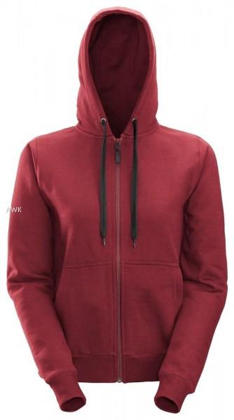 Damen Reißverschluss Sweatshirt, chili red