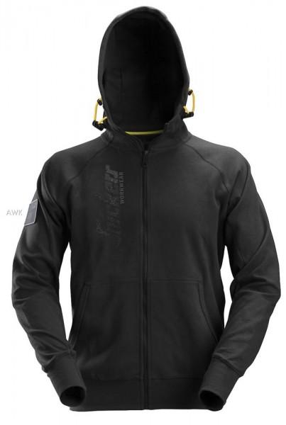 Logo Zip Hoodie, schwarz, MG280