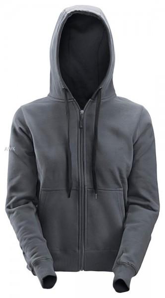 Damen Reißverschluss Sweatshirt, Steel grey
