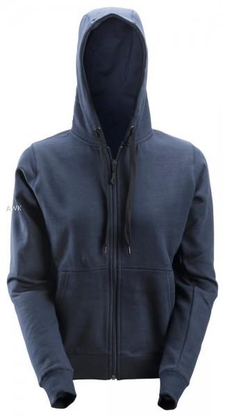 Damen Reißverschluss Sweatshirt, Navy