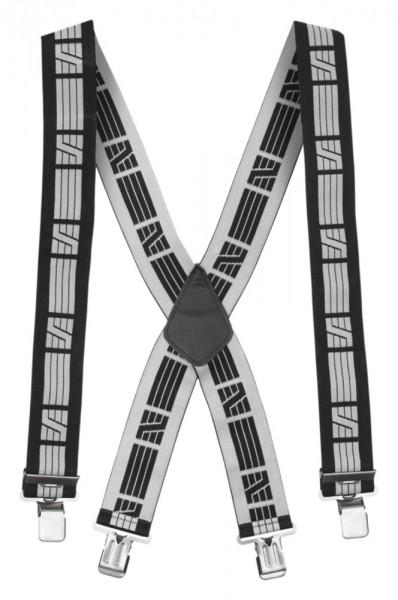 Elastische Hosenträger, Black\Grey
