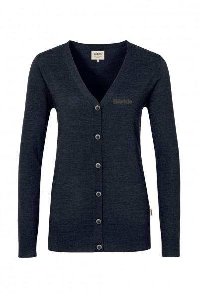 Women Cardigan Merino Wool, schwarz