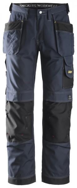 Handwerkerhose, Rip-Stop mit HP, Navy\Black