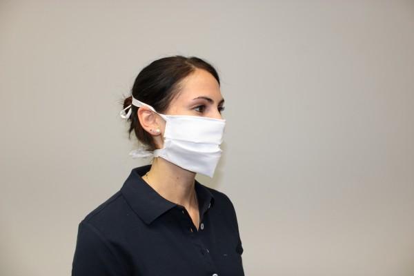Mehrweg Mund- und Nasenmaske, Verschluß zum Binden