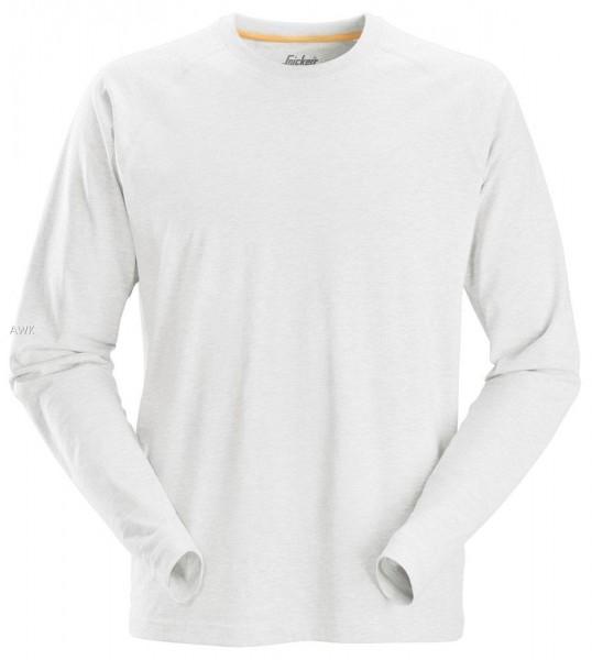 AllroundWork, langarm T-Shirt, white