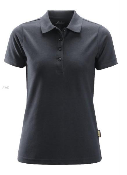Damen Polo Shirt, Steel grey
