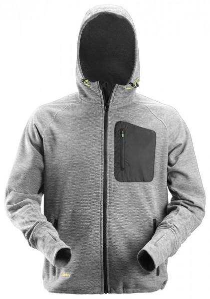 FlexiWork Fleece Hoodie, Grey/Black, PES210