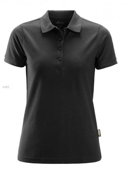 Damen Polo Shirt, Black