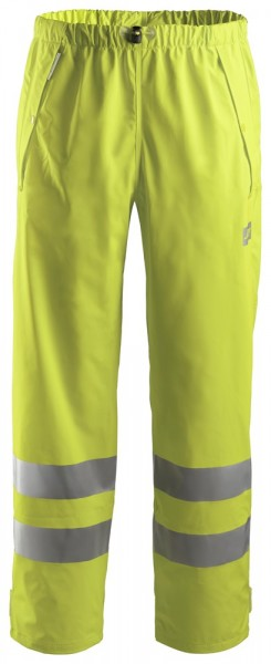 High-Vis PU Regenhose, Klasse 2, High vis yellow