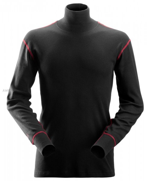 ProtecWork, Rollkragen-Langarmshirt schwarz, MG240