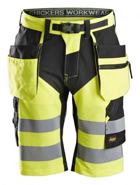 High-Vis FlexiWork Short, mit HP, gelb-schwarz