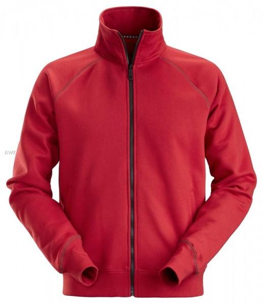 Sweatshirt-Arbeitsjacke mit Reißverschluss, Chili