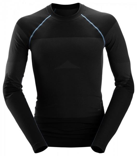 LiteWork, Nahtloses 37.5® Langarm-Shirt, schwarz