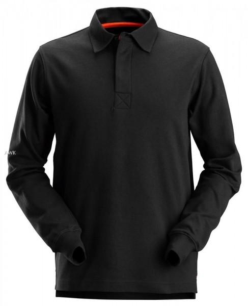 "Rugby Shirt ""AllroundWork"" black, MG280"