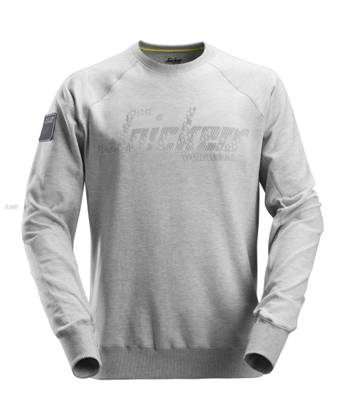 Logo Sweatshirt, Light Grey Melange, MG280