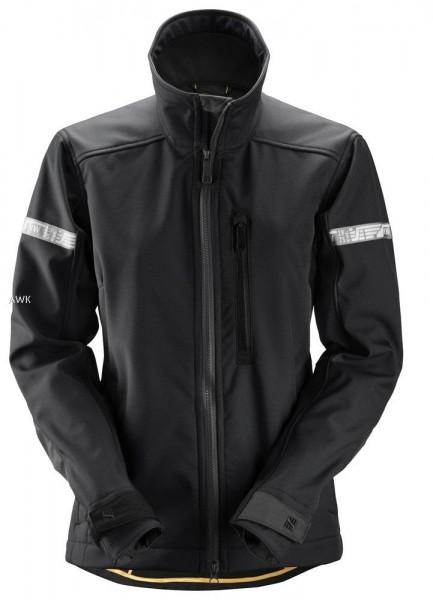 AllroundWork Damen Softshell Jacke, schwarz