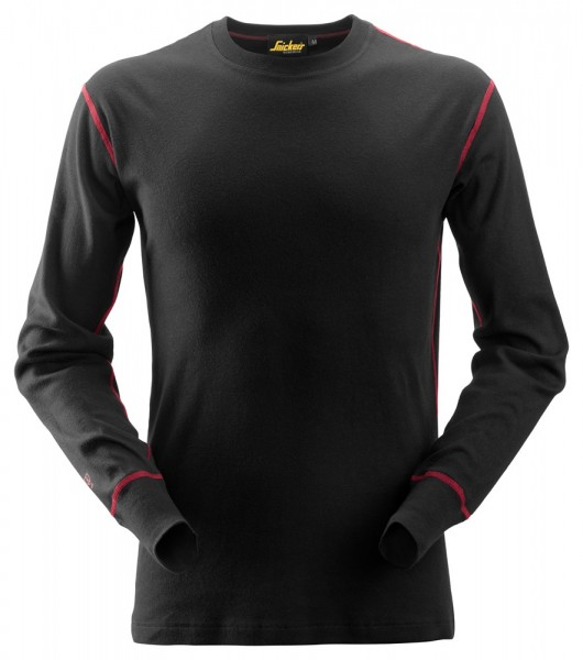 ProtecWork, Langarm-Rundhalsshirt schwarz, MG210