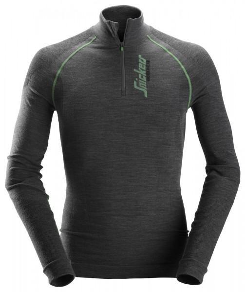 FlexiWork Langarm-Shirt, anthrazit-melange