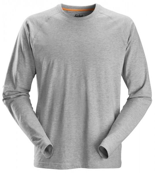 AllroundWork, langarm T-Shirt, Grey-Melange