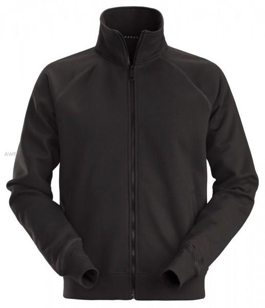 Sweatshirt-Arbeitsjacke mit Reißverschluss, Black