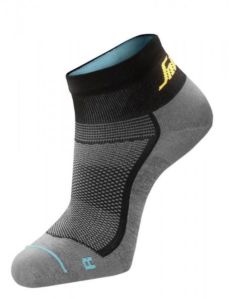 Lite Work 37.5 Sneaker Socken, grau/schwarz
