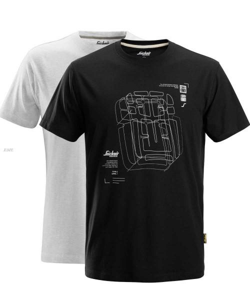 T-Shirt Doppelpack kurzarm, schwarz und weiß