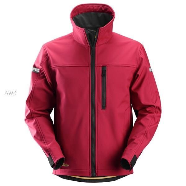 AllroundWork Softshell Jacke, rot/schwarz