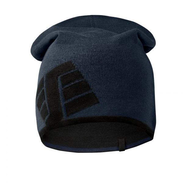 Krempelbares Beanie, Navy\Black