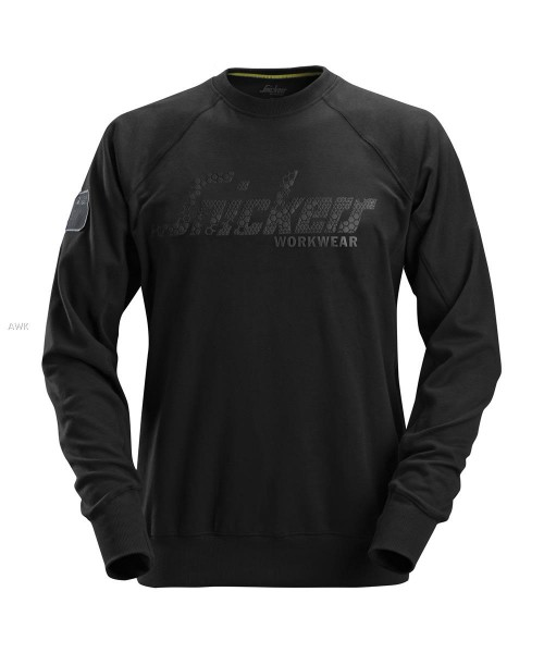 Logo Sweatshirt, Black, MG280