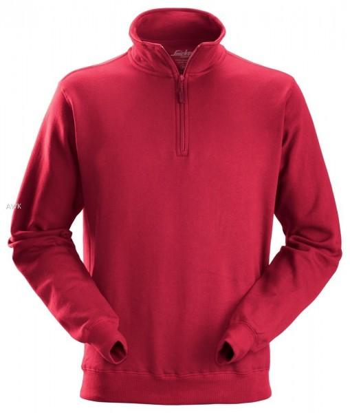 Sweatshirt Troyer, chili red