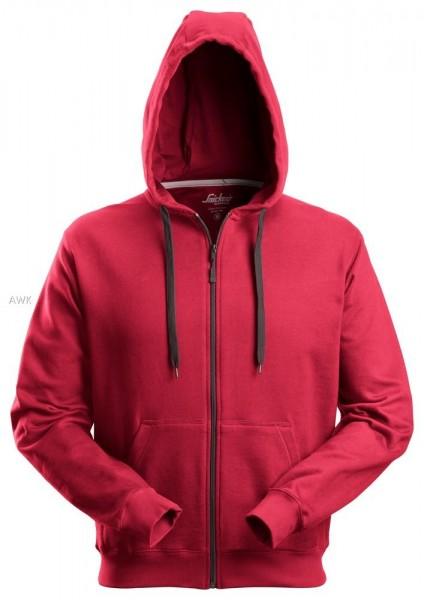 Hoodie mit Reißverschluss, Chili-Red