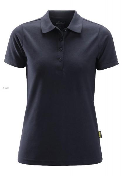Damen Polo Shirt, Navy