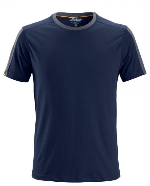 AllroundWork T-Shirt, Navy - Steel Grey