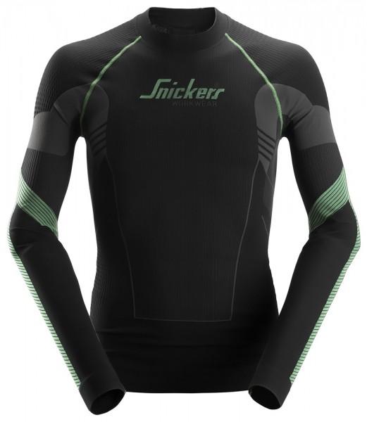 FlexiWork, Nahtloses Langarm-Shirt, schwarz-grau