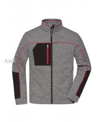 Men's Structure Fleece Jacket carbon-melange/black