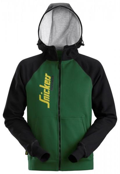 Kapuzensweatshirt, forestgreen-black