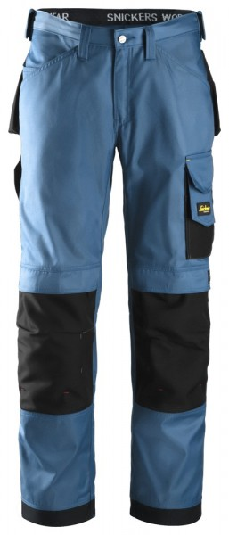 Handwerker Hose, DuraTwill, Ocean blue\Black