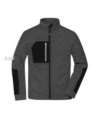 Men's Structure Fleece Jacket black-melange/black/