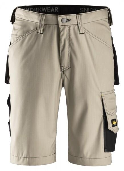 Handwerker Shorts, Rip Stop, Khaki\Black