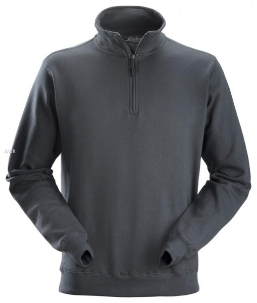Sweatshirt Troyer, Steel grey